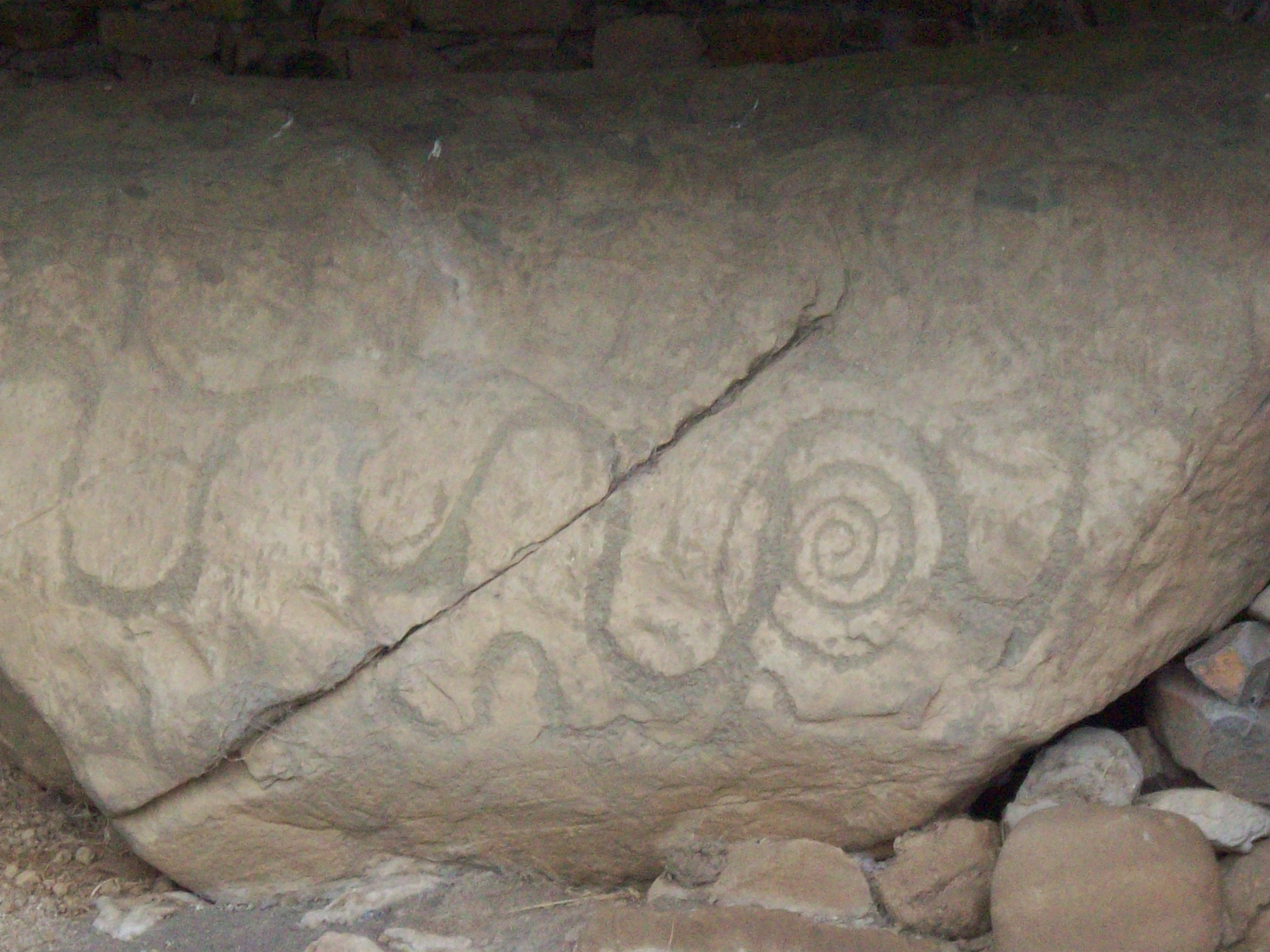 a small sample of the megalithic art at the Knowth Passage Tomb, Boyne Valley, Ireland