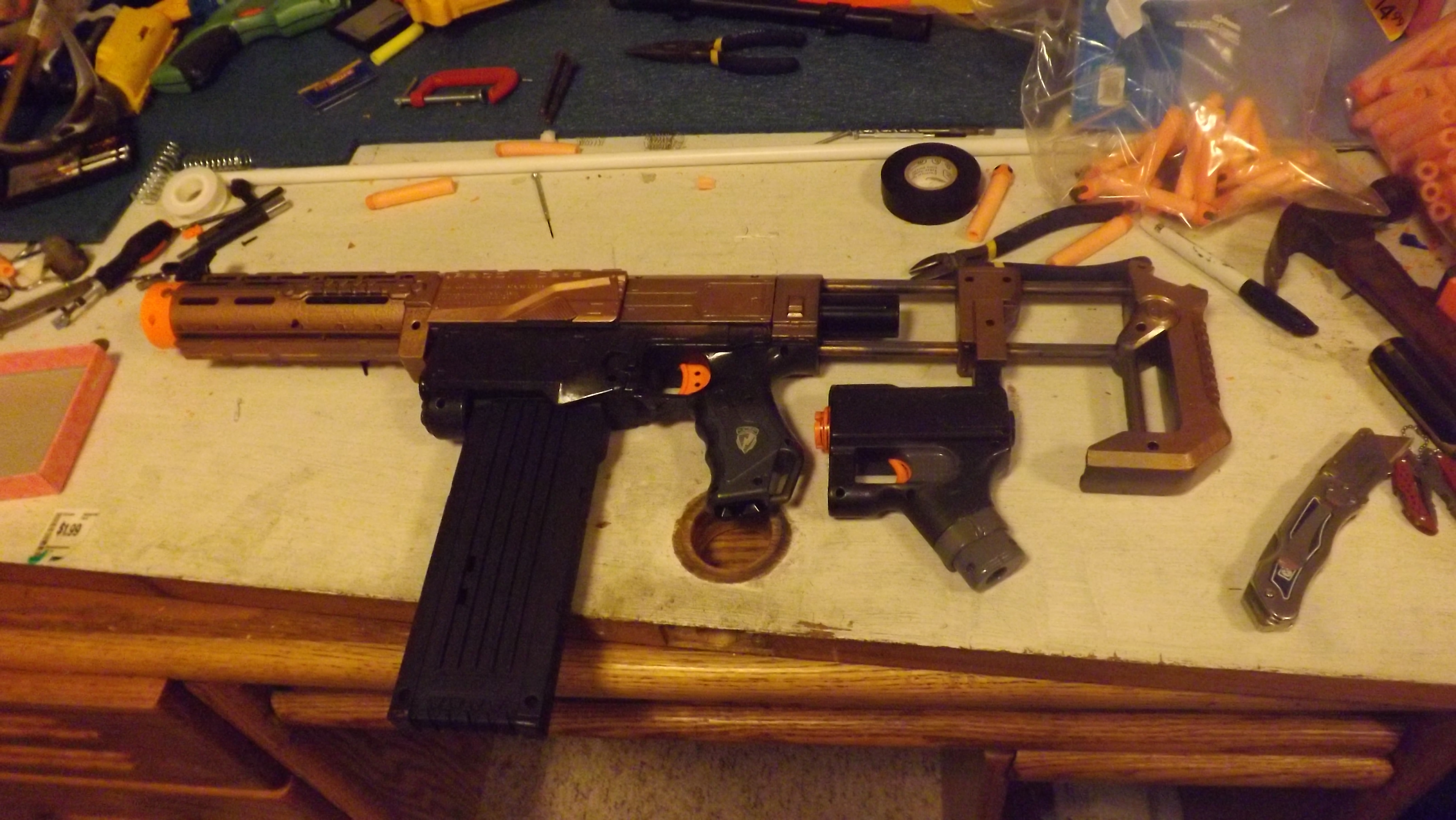 A modified nerf gun for our new hobby